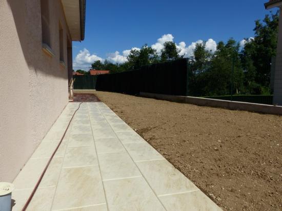 Terrasse, engazonnement