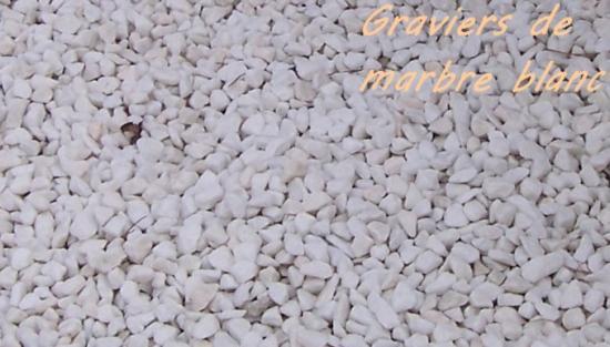 Graviers marbre blanc